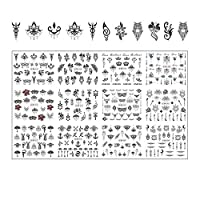 MIYU 12のデザインネイルステッカーセットミックス花幾何セクシーガールネイルアート水転写デカールの入れ墨カーソルマニキュア (Size : BN973 984)