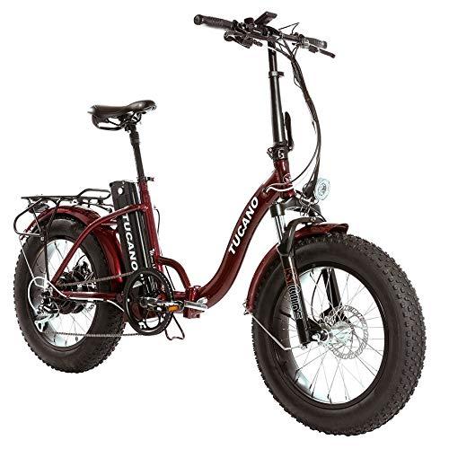 Monster 20″ LOW-e-e-Bike Plegable - Suspensión Delantera - Motor 500W (Rojo)