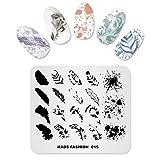 KADS Nail Art Stamping de moda Plantilla Uñas Decoración Pegatinas Imagen de Bricolaje Manicura Estampado Placa Herramientas de la Plantilla (FASHION 015)