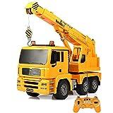 Modelo de coche escala 1:20 de 2,4 GHz de radio control remoto Modelos de fundición de grúa de auxilio Road vehículos de la construcción excavadora, Grúa, Remolque for los niños Parte favores de la to