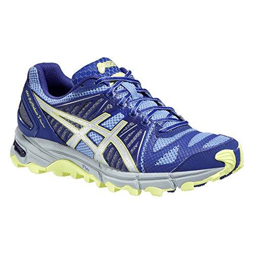 ASICS Gel Fuji Trabuco Neutral 2 - Zapatillas de Running para Mujer, Color Morado, Lima y Gris, Color Gris - Gris, tamaño 37