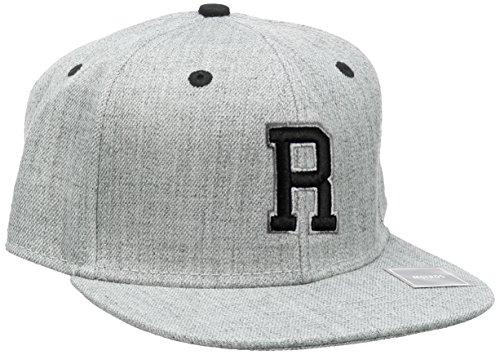 MSTRDS Unisex Letter Snapback R Baseball Cap, R Heather Grey, Large