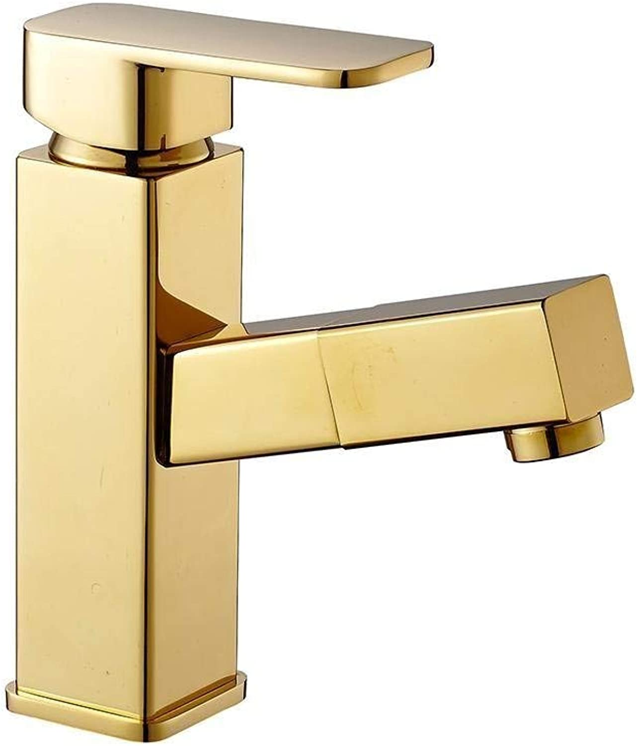 Bathroom Kitchen Sink Faucet,golden Modern Design Style Wash 360 Degree Cold and Hot Mixing Faucet.