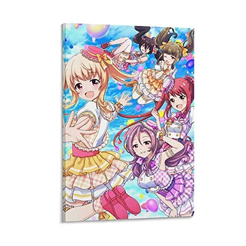 HAPPOW Póster de anime de Battle Girl High School - Lienzo decorativo para pared de salón, 40 x 60 cm