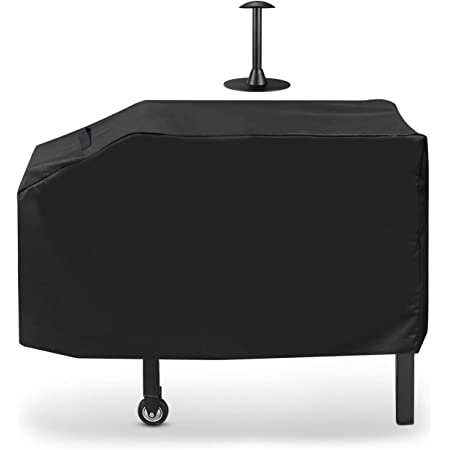 SunPatio Outdoor Grill Griddle Cover for Blackstone 28 inch 2 Burner Griddle, Heavy Duty Flat Top Griddle Station Cover with Waterproof Sealed Seams, Durable FadeStop Material, Come with Support Pole