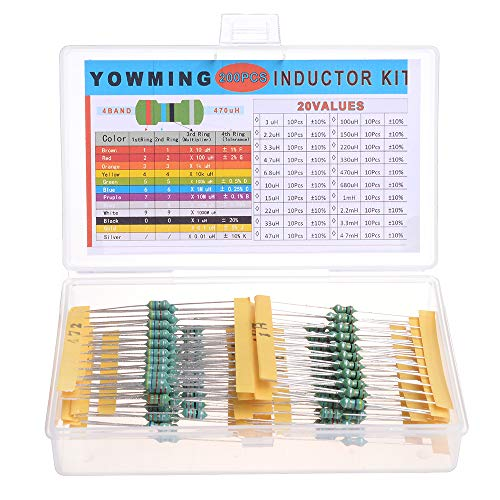 200 PCS 20 Value 0.5W Assorted Color Wheel Inductor 10/% Tolerance Sets Kit