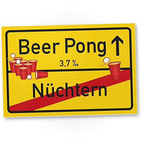 Beer Pong Kunststoff Schild, Geschenkidee lustiges / kleines Geschenk Einweihungsfeier Studenten, Mitbringsel Einweihungsparty WG-Party, Party Deko - Wanddeko, Mallorca-Party Zubehör Trinkspiele