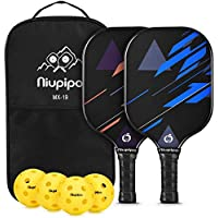 Set Of 2 niupipo Pickleball Paddles & Balls