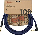 FenderFestival Hemp Instrument Cable - 10' Straight-Angle, Blue Dream