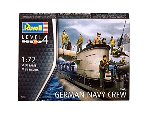 Revell tripulación submarina Alemania Naval, la Segunda Guerra Mundial (Conjunto de Caracteres) en Escala 1:72 51 Figuras (02525)