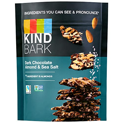 KIND BARK Dark Chocolate Almond & Salted Caramel, 3.6-Ounce Bag (Pack of 8)
