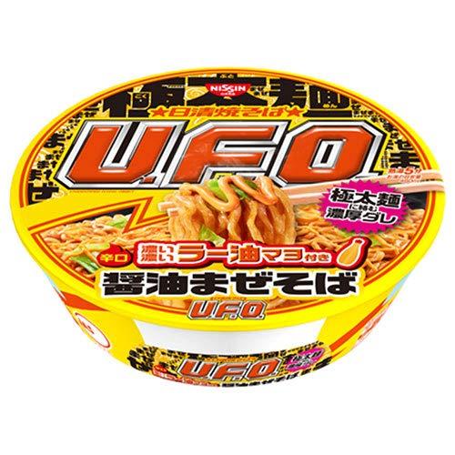 日清食品 日清焼そばU.F.O. 濃い濃いラー油マヨ付き 醤油まぜそば 112g×12個入