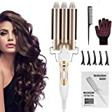 DazSpirit 3 Barrel Hair Waver Curling Iron 22mm for Trendy Style - 2020