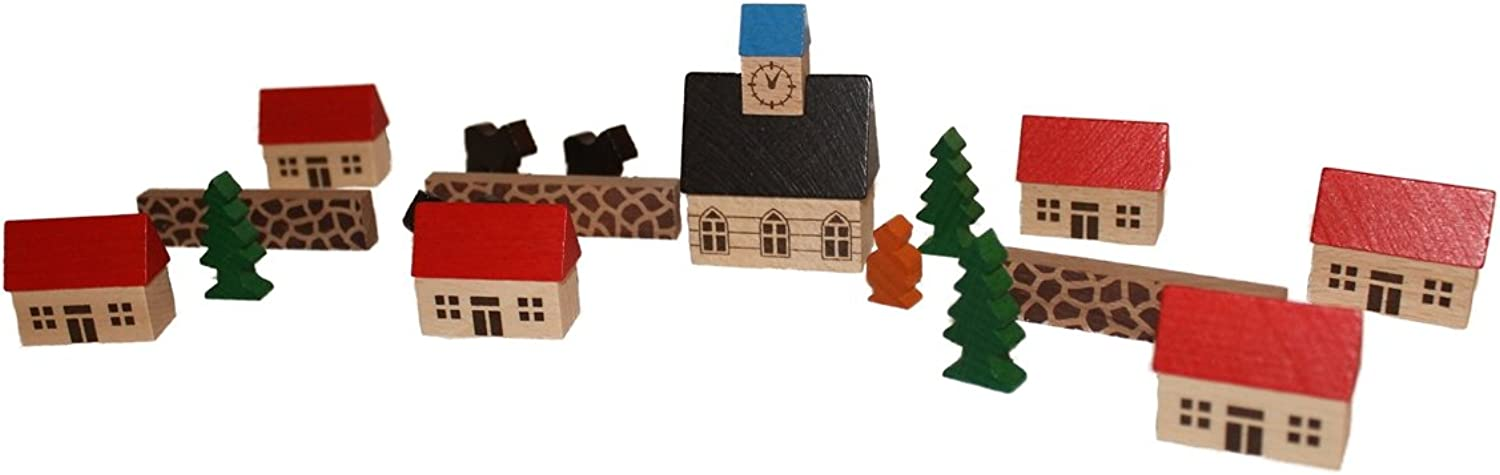 Village M. church in the bag wood city of components