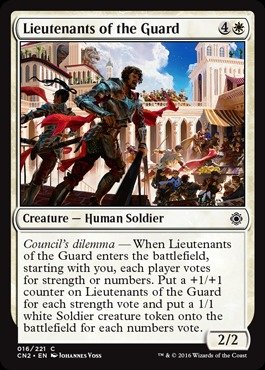 Magic The Gathering - Lieutenants of The Guard (016/221) - Conspiracy 2: Take The Crown