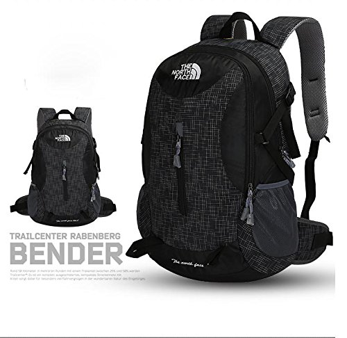 XIE@ All'aperto alpinismo 40l sport di grande capacità impermeabile zaino zaino portatile borsa , black
