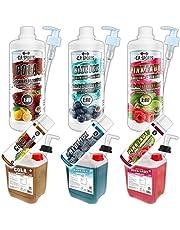 C.P.Sports – Concentrado de bebidas – 1 litro de Cola, proporción 1:80, sin calorías, sin azúcar, sin aspartamo, vitaminas, Concentrado sirope bebida de jarabe