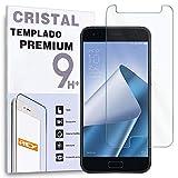 REY Protector de Pantalla para ASUS ZENFONE 4 ZE554KL, Cristal Vidrio Templado Premium
