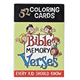 52 Coloring Cards for Kids: Bible Memory Verses Every Kid Should Know
