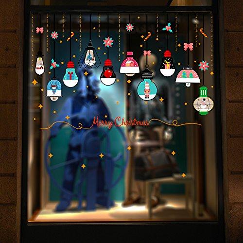 Kerstmis muurstickers cartoon Kerstman trein muur posters winkel-raam glazen deur en raamstickers decor posters,R, kerstverlichting opknoping van het plafond van L4-6,
