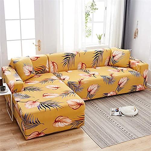 TDOYO Funda para sofá de Sala de Estar,Funda de sofá Universal elástica Estampada,Funda de sofá seccional de 1 Pieza para Forma de L,Protector elástico para Muebles-N 2 plazas