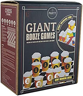 Paladone Giant Booze Games - Chess and Ludo Drinking Board Games