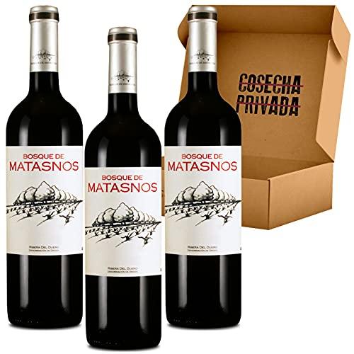 Bosque de Matasnos - 3 Botellas - Vino Tinto - Ribera del Duero - Mejor Vino RCP - Seleccionado y Enviado por Cosecha Privada