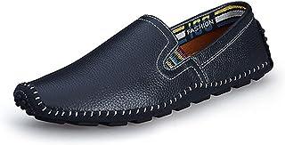 [ヤク] ドライビングシューズ メンズ ローファー スリッポン ビジネスシューズ メンズ靴 通気 紳士靴 歩くやすい 疲れにくい クッション 滑りにくい 旅行 通勤 日常 ラウンドトゥ シンプル靴 耐磨耗性 ワークシューズ
