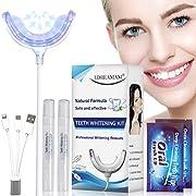 Teeth Whitening Kit,Zahnaufhellung Set,Professionelle Zahnaufhellung Set zu Hause Zahnweiß,Bleichsystem,Zahnreinigung,Wiederverwendbares Home Bleaching Kit für Weisse Zähne