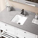 MR Direct U1414-W-PUD-ABR White Undermount Porcelain Bathroom Sink...