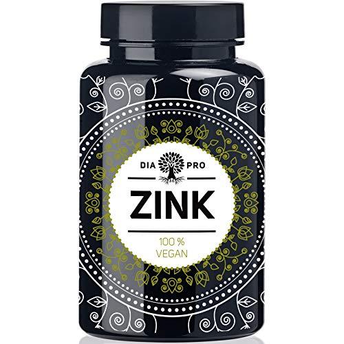 DiaPro® Hochdosierte Zink-Tabletten 25 mg bioverfügbares Zink pro Tablette aus Zink-Bisglycinat 365 Stück Jahresvorrat 100{0e6af10223a63ccf9773ea558cc315469ee57d370c94c87a7b364d1645492f3b} Vegan Laborgeprüft Hergestellt in Deutschland