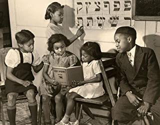 8 x 10 Fuji Film Photo African American Jewish Congregation In Harlem, Children Studying, 1940 A mostly Art Stuff Product