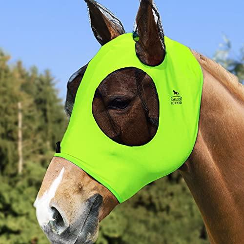 Harrison Howard Máscara de mosca de caballo-Fluro-Lime (L; Tamaño completo)