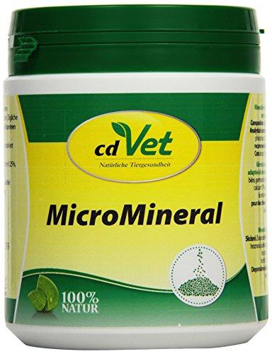 cdVet Naturprodukte MicroMineral Hund & Katze 500 g - naturbelassene Mikronährstoffversorgung - Entlastung Entgiftungsorgane - Mineralstoffhaushalt - Stoffwechsel - Fell - Vitaminabsicherung