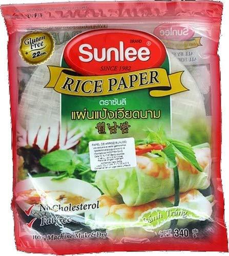 Sunlee - Rice Paper - Obleas de Arroz- Libre de Grasas - Sin Colesterol - Producto de Vietnam 340 Granis
