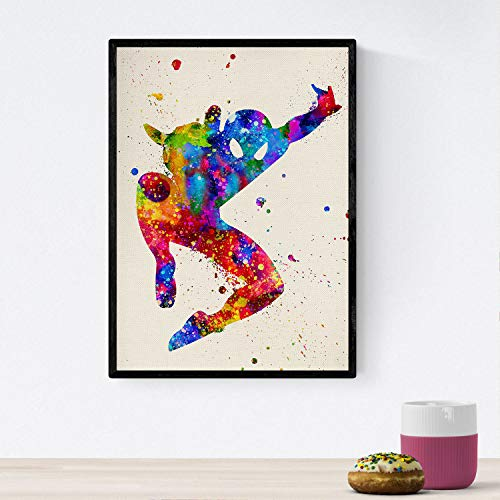 Spiderman print. Watercolor design posters with movies and cine.Imágenes of cinema and films for interior decoration. 8'x11' size