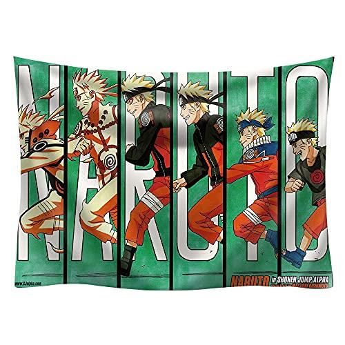 PPOU Tapiz para Colgar en la Pared con Estampado de Anime Ninja japonés, Toalla de Playa para Yoga, decoración Boho, Alfombrilla de Picnic, Tapiz de Mandala de Dibujos Animados A16, 150x200cm