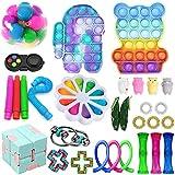 30Pc TIK Tok Fidget Spielzeug Packung Sinnes Fidget Spielzeug Push-Pop-Blase Spielzeug-Druck-Anxiety Relief Spielzeug Set für ADD OCD autistische Kinder Erwachsene Angst Autismus (Toy Set A4)