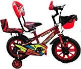 Rising India 14' Spooky Sports Kids Bicycle for 3-5 Years with Full Chain Cover and PVC Double...