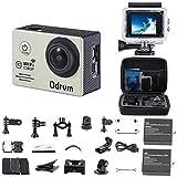 Action Cam 4K WiFi 1080P 60FPS, 20 MP Unterwasserkamera, 2.4G Fernbedienung und 2 1350mAh Akkus für...