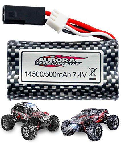 HisHerToy Rechargeable 7.4V 500mAh Lithium-ion Battery for 9135 RC Car, 9137 Remote Control Truck