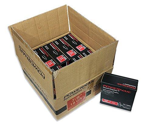 Powernail 18ga 1/4'crown Chisel Point Narrow Crown Staple. 7/8'L. Case of 10 boxes (5000ct per box)
