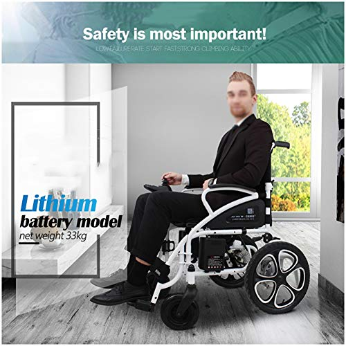New TXDWYF Electric Wheelchair Lightweight Wheelchair Open/Fold in 1 Second The lightest & Most Comp...