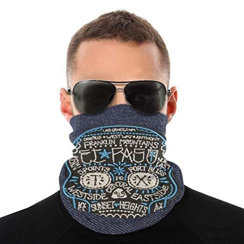 Máscara facial bandana para hombres y mujeres, parche - Calavera callejera máscara de media cara, protección contra el sol, UV, polvo, viento, transpirable, bufanda para cuello, bufanda blanca