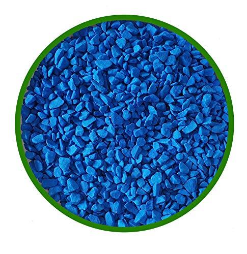 Pietre Decorative per Il Giardino, Color Azzurro Blu Mis. 9/13 mm. (Sacco 20 kg.) (Azzurro Blu)