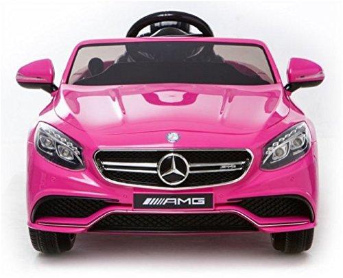 Mercedes S63 AMG Voiture-jouet électrique pour enfant, DEUX MOTEURS, licence Mercedes originale ( ROSE)