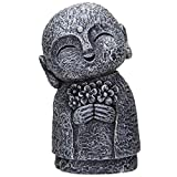 Pacific Giftware Eastern Enlightenment Happy Japanese Jizo Monk Holding a Batch of Flowers Resin Figurine