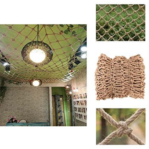 Garden Railing Stairs Kids Anti-Fall Net, Cafe Nets Kids Net Jute Netting Bar Cafe Bookstore Industrial Wind Punk Decoration Ceiling Net 12mm/15cm Multiple Sizes ( Size : 6*8M(19.7*26.2ft) )