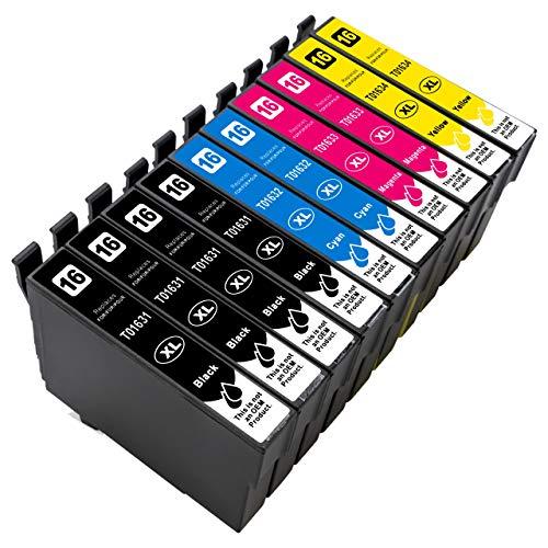 ESMOnline 10 kompatible XL Druckerpatronen (4 Farben) Epson WF 2760DWF 2750DWF 2660DWF 2650DWF 2630WF 2540WF 2530WF 2520NF 2510WF 2010W (T162x/T163x)