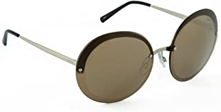 IDEE Mirrored Round Women's Sunglasses - (IDS2341C2SG 61 Gold Mirror with Laser Around-Brown Color)